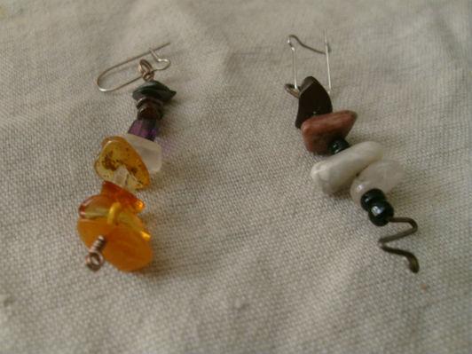 Boucle d`oreille pierre semi-précieuse