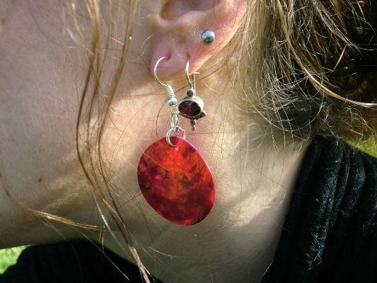 Boucle d`oreilles nacre