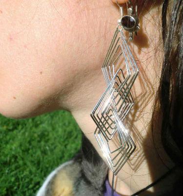 Boucle d`oreilles metal