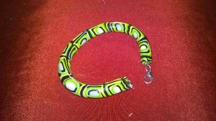 Bracelet torc en pate fimo