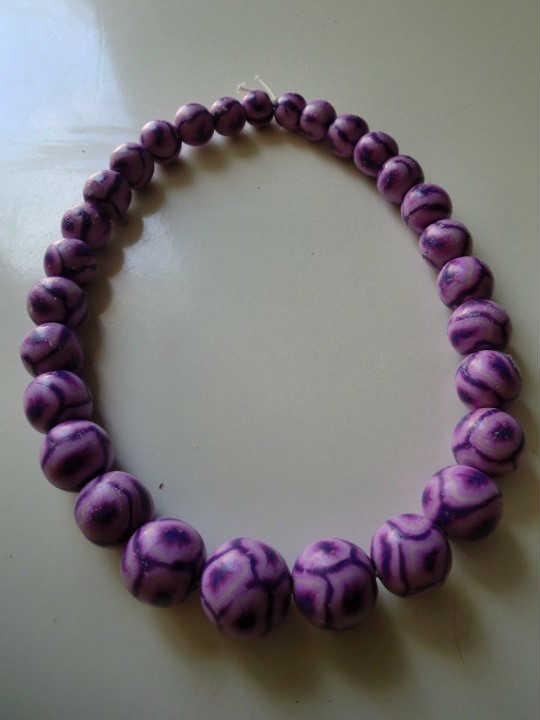 Collier perles en pâte fimo