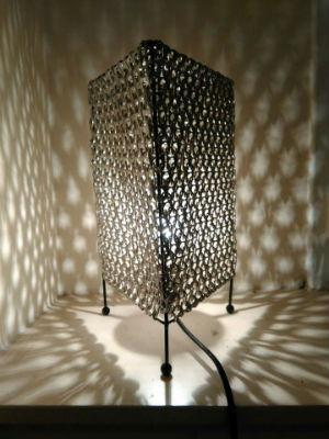 Lampe en capsules de sodas