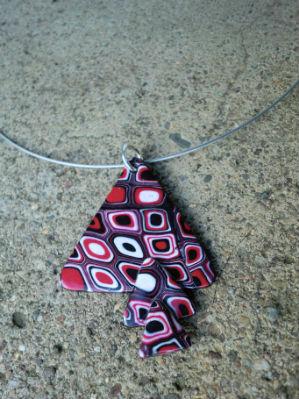 Collier pendentif en pâte fimo